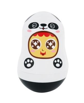 QQ Tumbler Paper Clips Box - Panda (QQ不倒翁萬字夾(萬用)盒 - 熊貓)