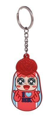 QQ Tumbler keychain - Rose (不倒翁鎖匙扣 - 玫瑰)