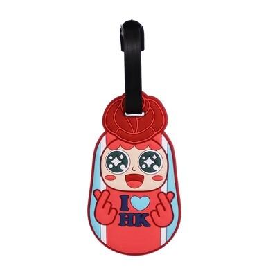 QQ Tumbler Luggage Tag - Love HK Girl (行李牌- 玫瑰愛香港)