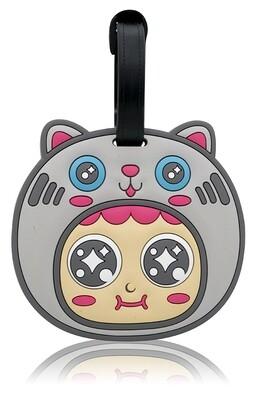 QQ Tumbler Luggage Tag - Cat (行李牌 - 猫)