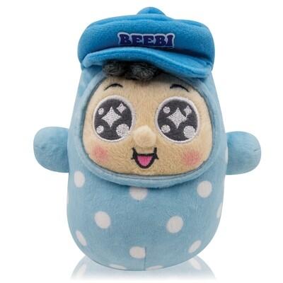 """QQ Tumbler 7"""" Keychain Plush doll - QQ Boy (7吋QQ仔不倒翁毛公仔)"""