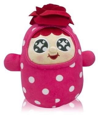 """QQ Tumbler 10"""" Plush doll - Rose (10吋QQ 玫瑰不倒翁毛公仔)"""