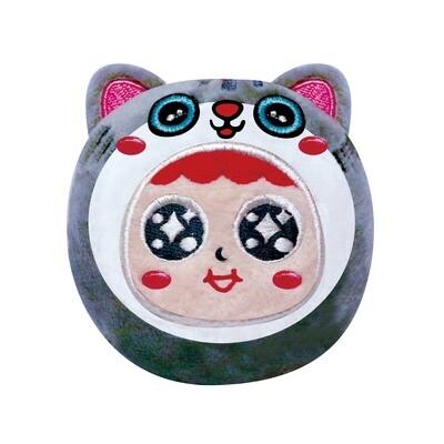 QQ Tumbler Plush keychain - Cat (QQ不倒翁毛公仔鎖匙扣 - 貓)