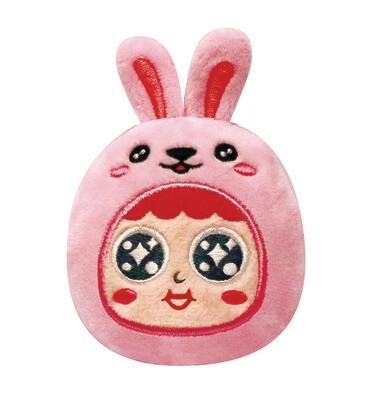 QQ Tumbler Plush keychain - Rabbit (QQ不倒翁毛公仔鎖匙扣 - 兔)