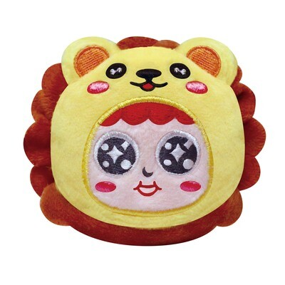 QQ Tumbler Plush keychain - Lion (QQ不倒翁毛公仔鎖匙扣 - 獅子)