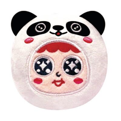 QQ Tumbler Plush keychain - Panda (QQ不倒翁毛公仔鎖匙扣 - 熊貓)