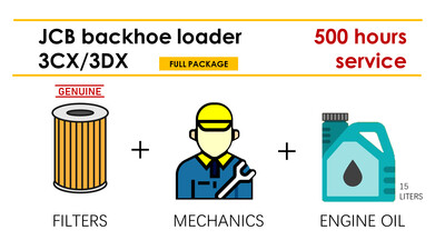 JCB 3CX/3DX 500H Service (filters+labour+oil)