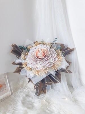Camellia Rose Money Bouquet