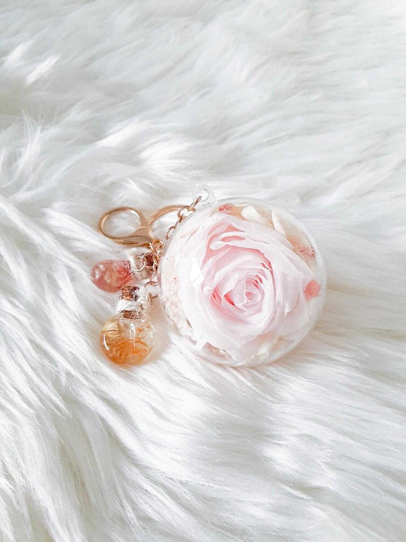 Preserved Pastel Pink Key Charm