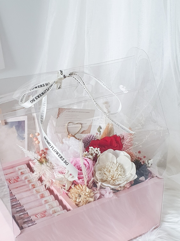 Eternal Pink Tone Flower Box