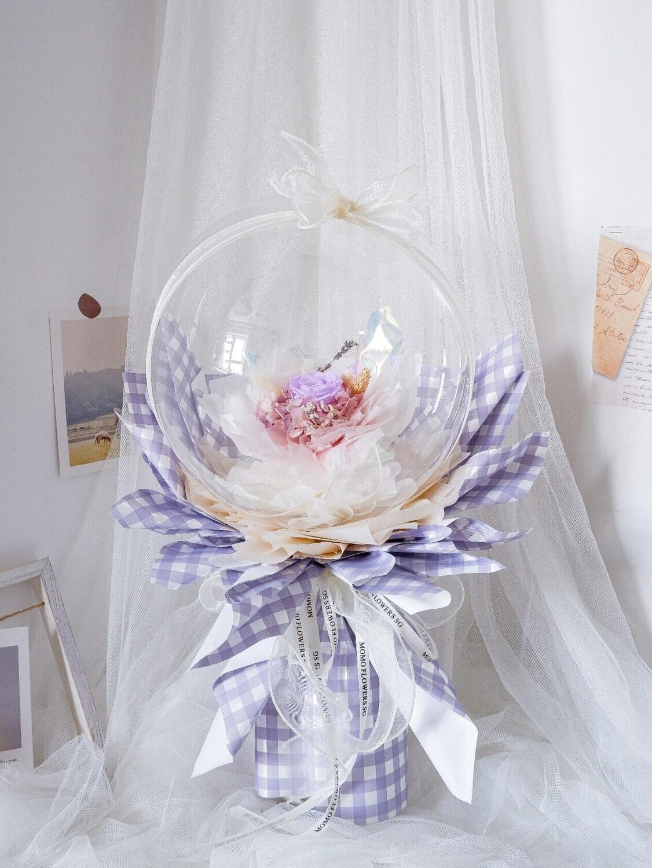 Purple Rose Balloon Bouquet