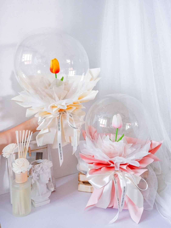 Faux Tulip Balloon Bouquet