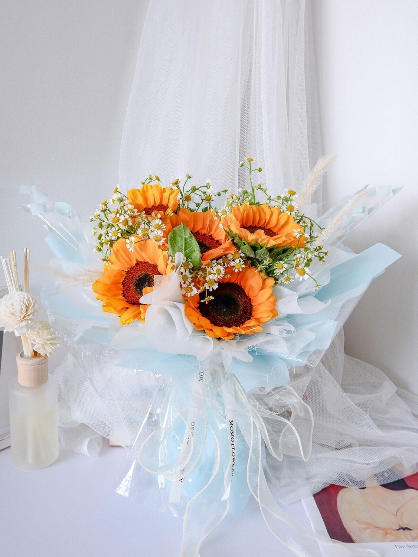 5 Stalk Fresh Sunflower Bouquet