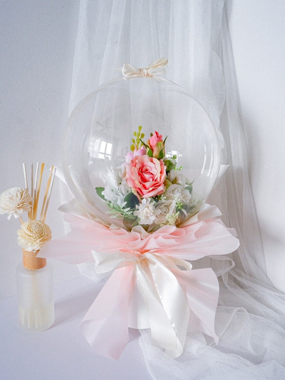 Faux Pink Balloon Bouquet