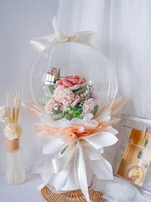 Faux Orange Balloon Bouquet