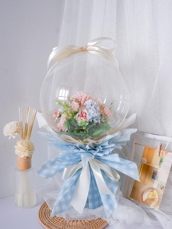 Faux Blue Balloon Bouquet