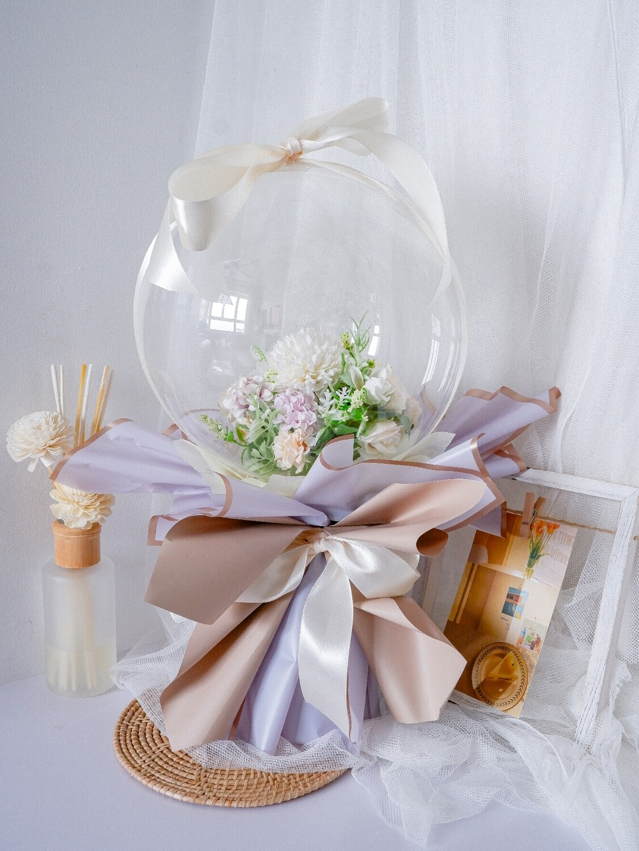 Faux Purple & Khaki Balloon Bouquet