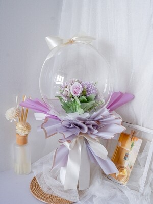 Faux Purple Balloon Bouquet