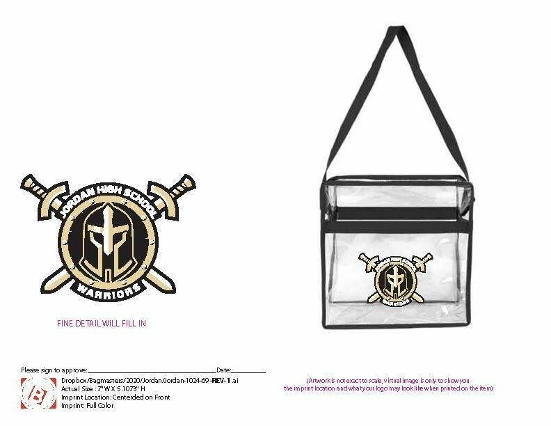 Clear bag with Warrior's Logo