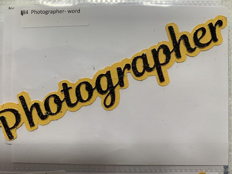 Photographer- word