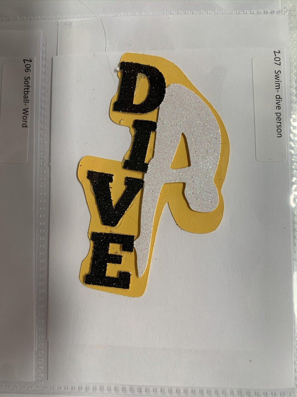 Swim- dive person