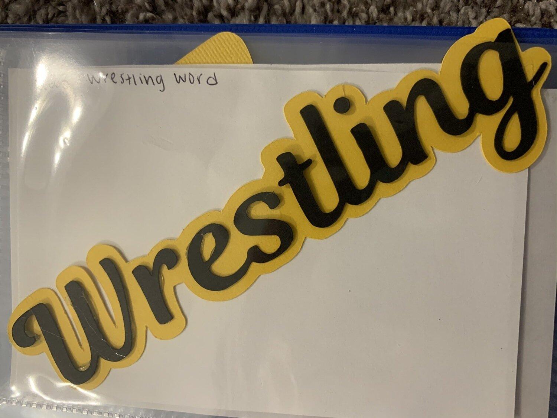 Wrestling- word