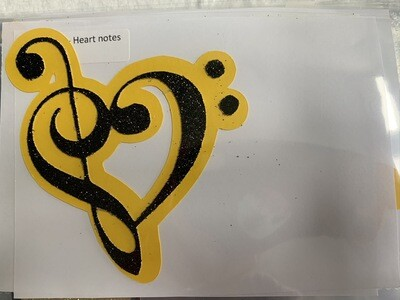 Music- Heart notes