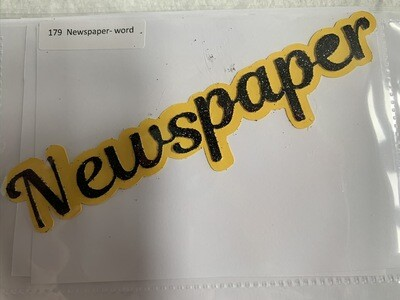 Newspaper- word