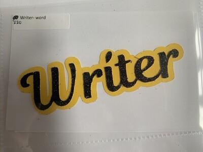 Writer- word