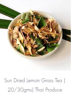 Sun Dried Lemon Grass Tea