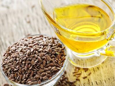 Wood pressed Flax Seed Oil