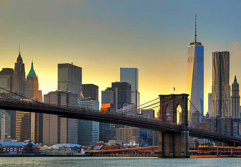 Fotomural Puente de Brooklyn atardecer 00148
