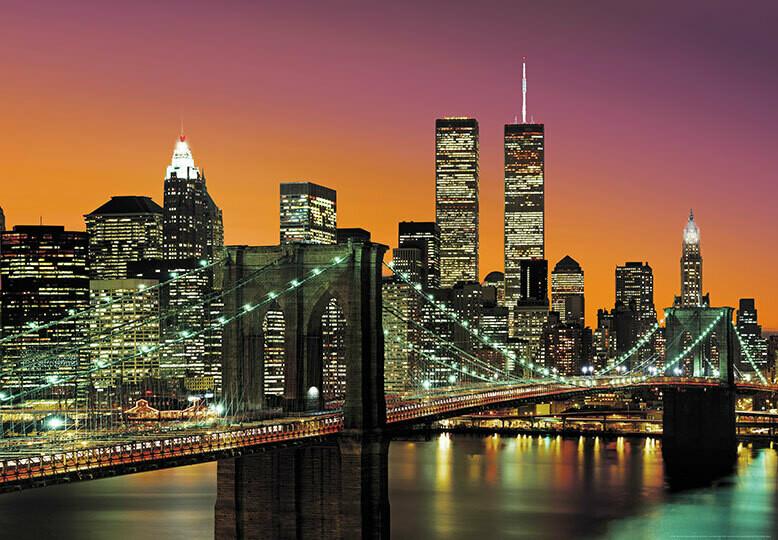 Fotomural Puente Brooklyn en colores 00139
