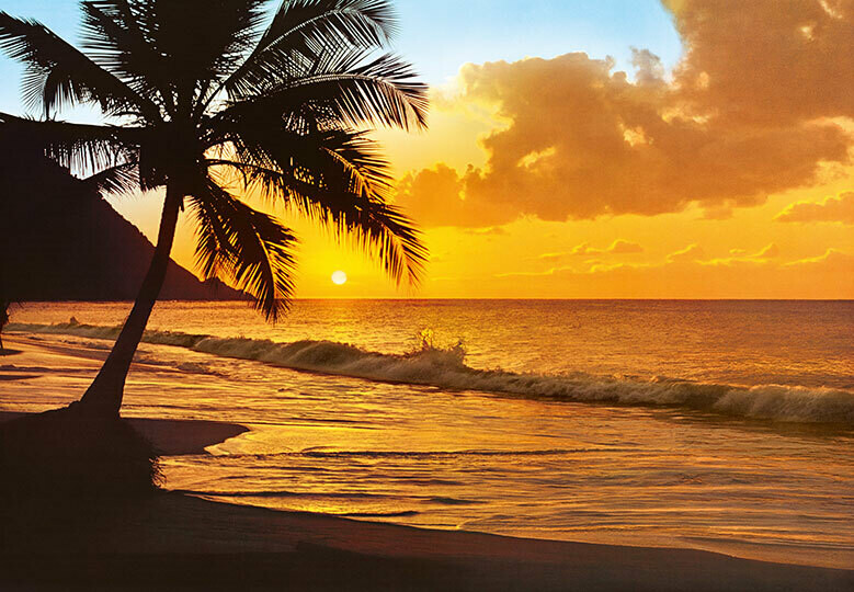 Fotomural Atardecer de Playa 00218