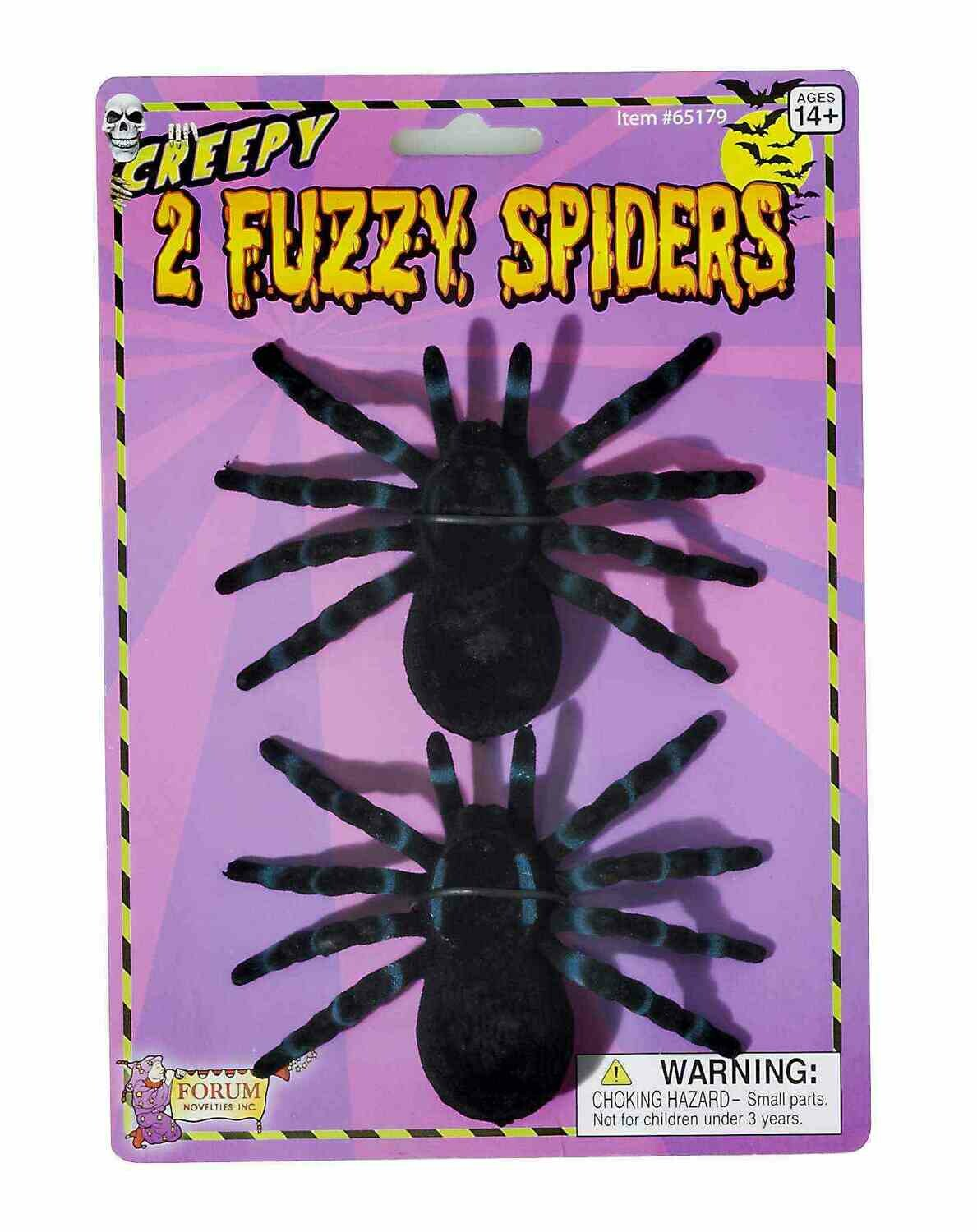 Flocked Fuzzy Spider
