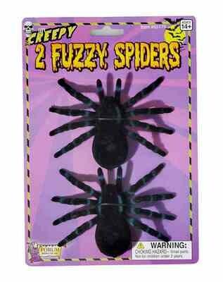 Flocked Fuzzy Spider