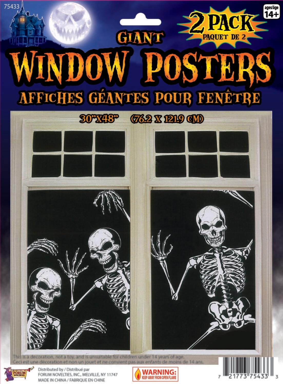 Giant Window Poster - Skeleton