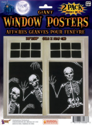 Giant Window Poster - Skeleton