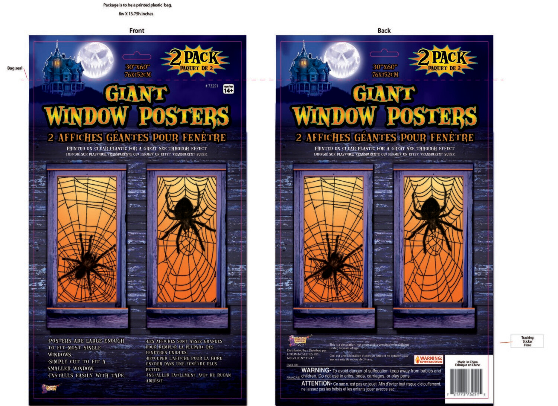 Giant Window Poster - Spider Webs