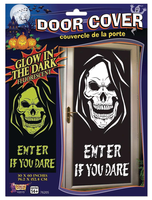Glow in the Dark Door Poster - Skull