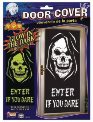 Glow in the Dark Door Poster - Skull