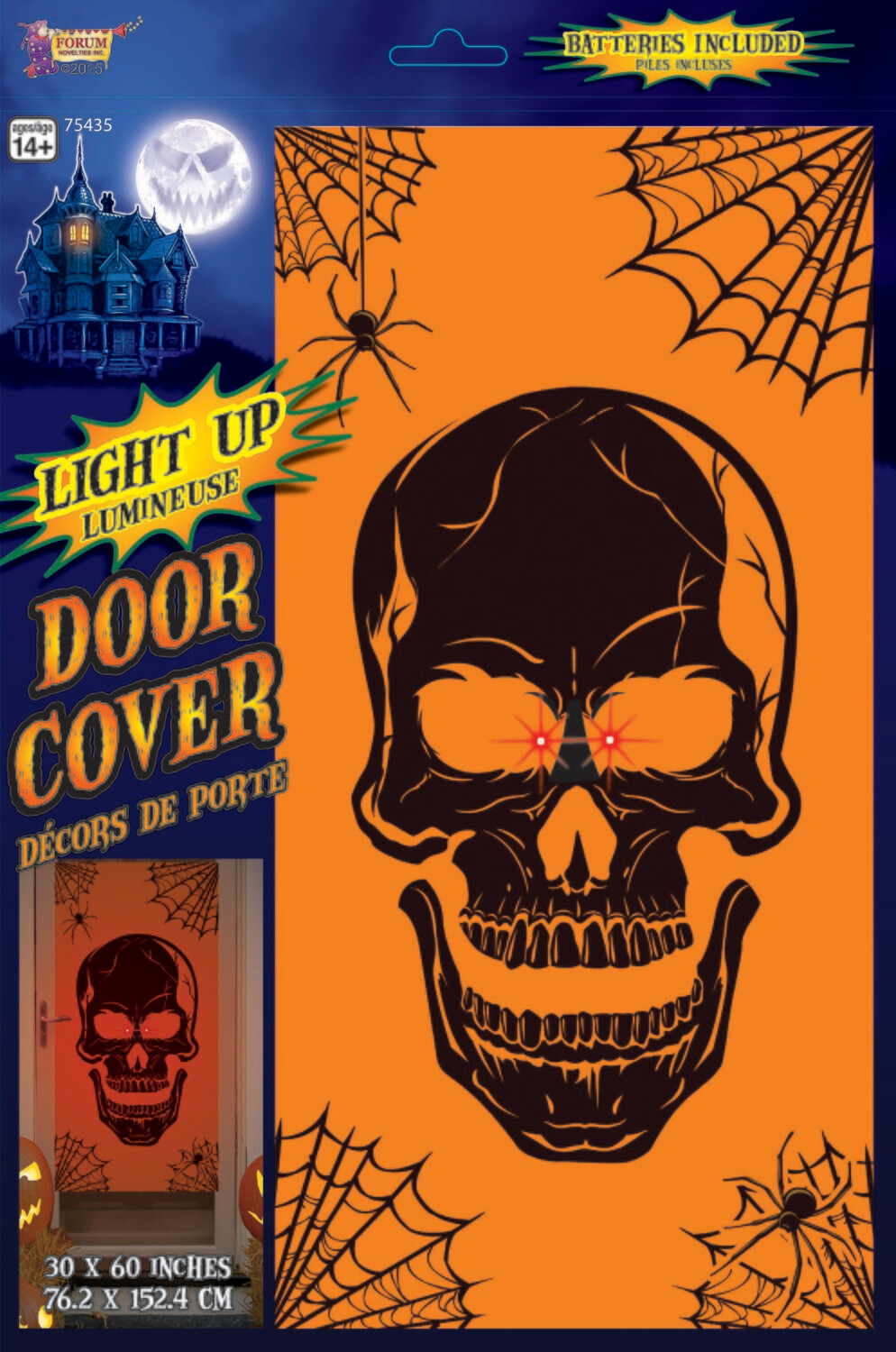 Light Up Door Cover - Skull
