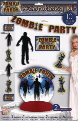 Zombie Party Decor Set