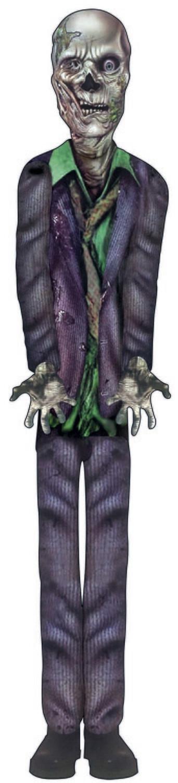 Zombie Purple Suit -Cut Out