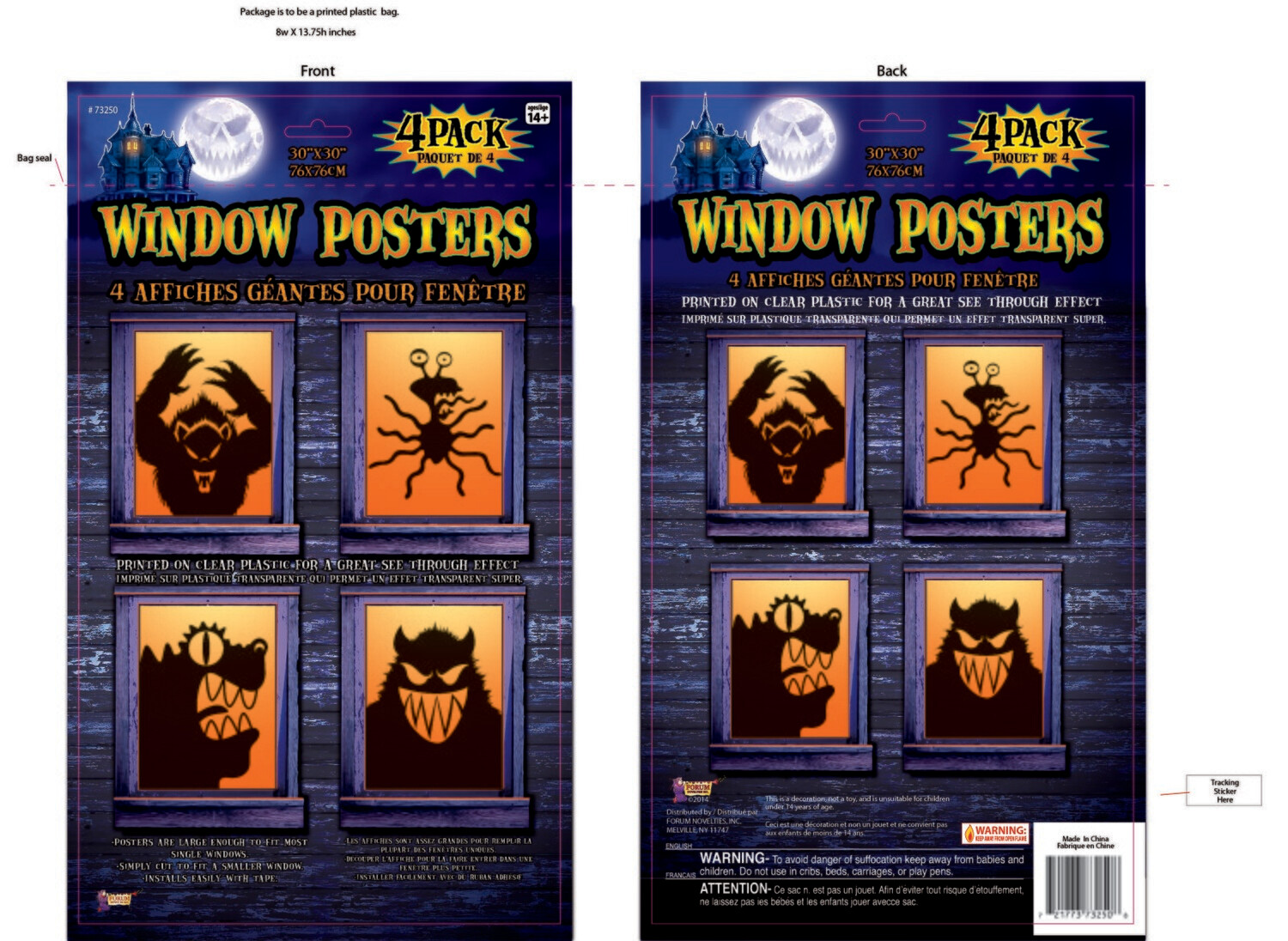 Window Poster - Freaky Monsters