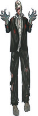 Zombie Black Suit -Cut Out