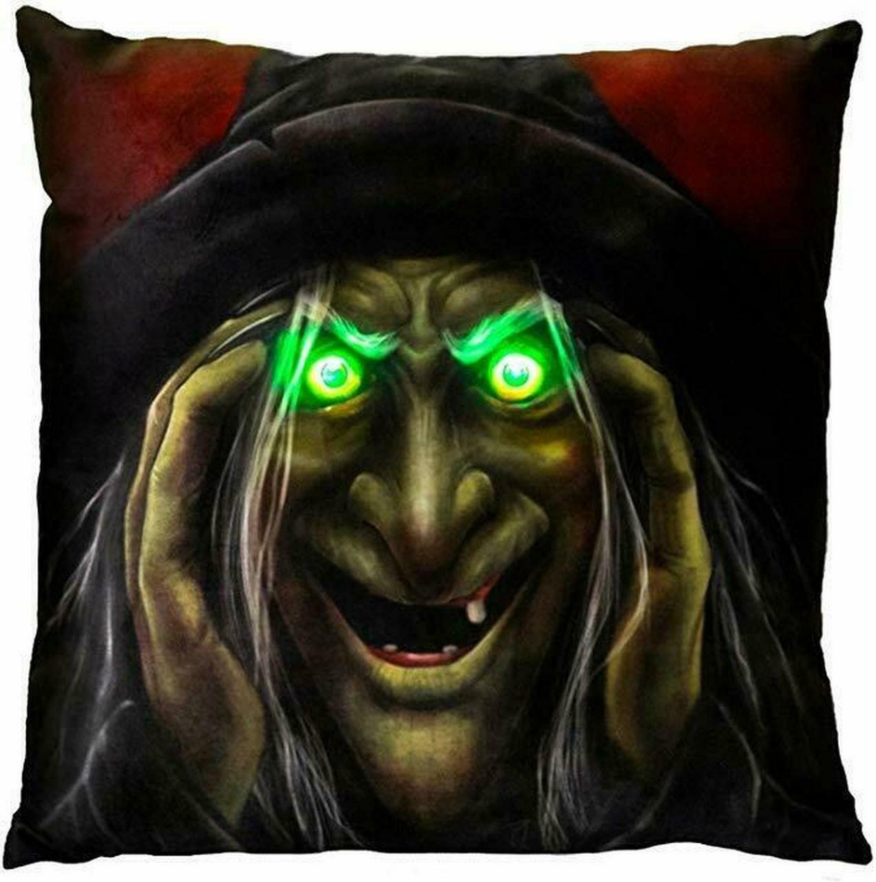 Light-Up Pillow - Peek-A-Boo Witch