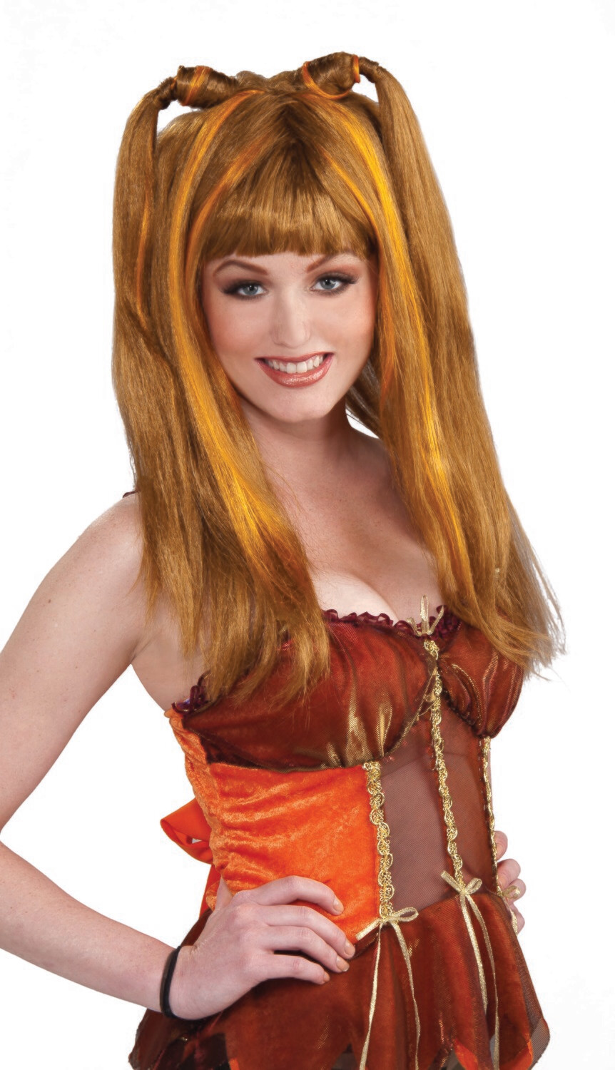 Fantasy Fairies Harvest Wig - Orange