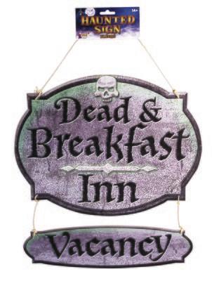 Dead & Breakfast Sign