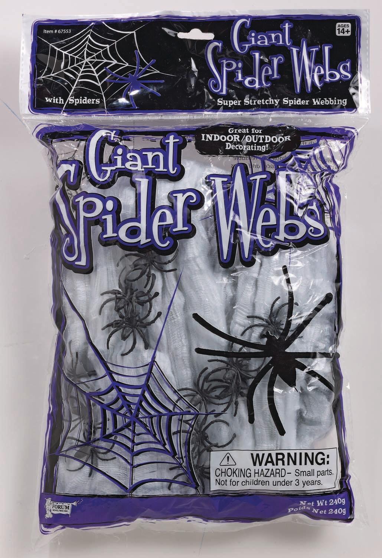 Spider Web - 12 Spiders - White